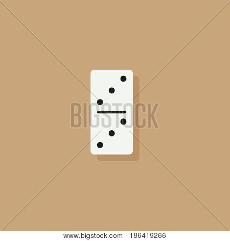 Domino vector illustration. Flat elements for web design and mobile app. High quality flat icon for design printed material. Domino icon on background.