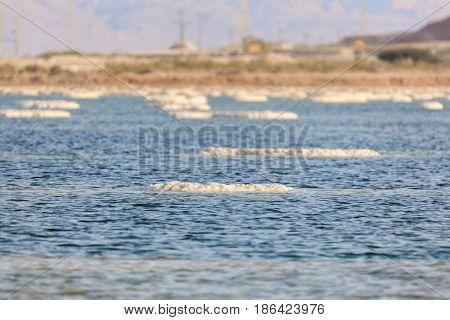 A Salt lumps in the Dead sea