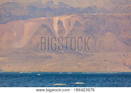 Jordanian Shore Of Dead Sea