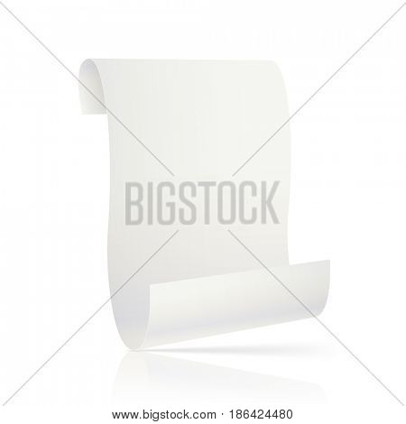 Blank Paper sheet on White background. illustration