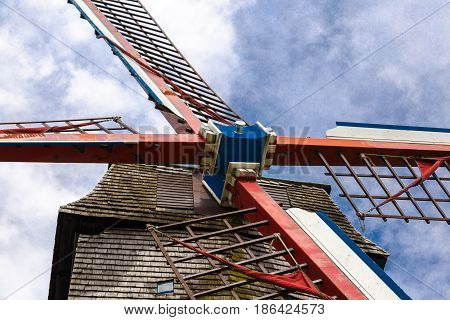 Detail Of Historical Windmill In Brugge