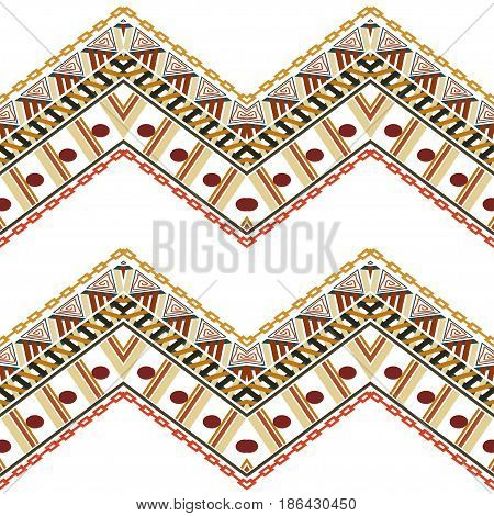 Abstract seamless texture in ethnic style. Stock Vector