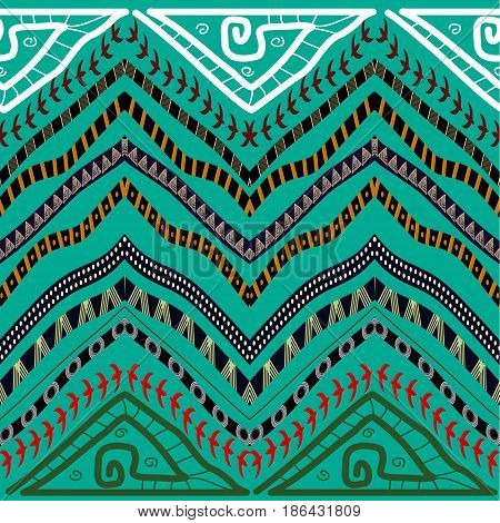 Abstract seamless pattern in ethnic style. Stock Vector