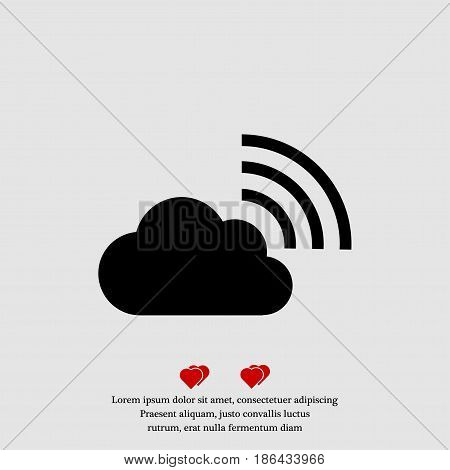 black cloud icon vector best flat icon EPS