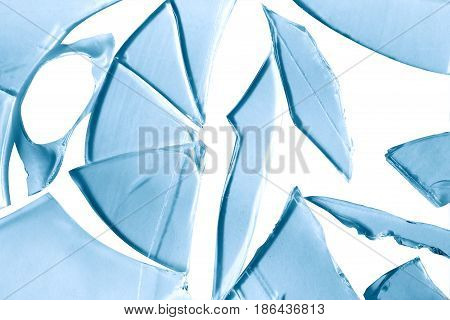 Background made from broken glass. Isolated with clipping path