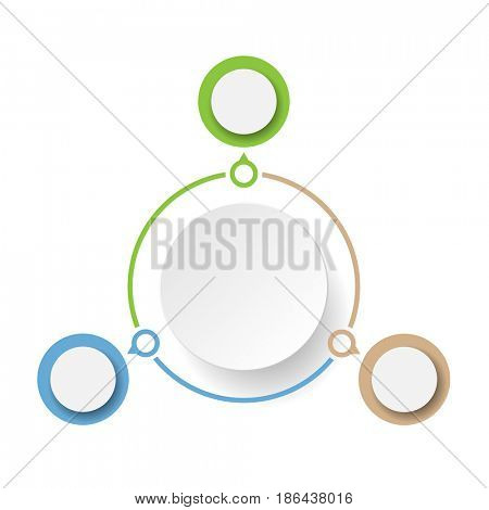 Abstract Marketing. Concept Infographics icons for layout, diagram, annual report, web design. Business options. Illustration