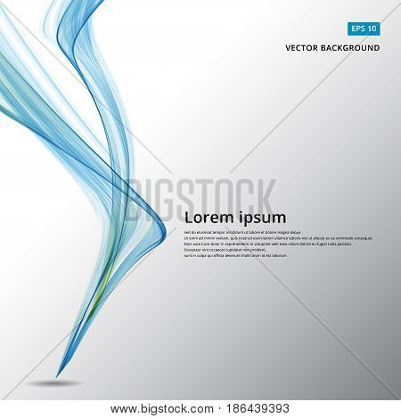Abstract background with blue vertical wave movement. Vector illustration for your web design desktop wallpaper or website. copy space