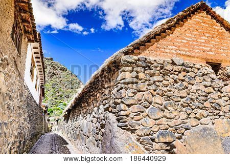 Ollantaytambo Peru - Town and an Inca archaeological site in southern Peru South America.