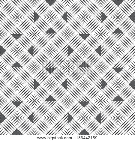 Seamless pattern. Modern stylish texture. Regularly repeating geometrical linear ornament with thin lines rhombuses triangles. Vector element of graphical design