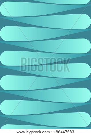 Abstract background with horizontal oriented drop shapes, 3d spatial effect, green gradient on dark green background, vector EPS 10