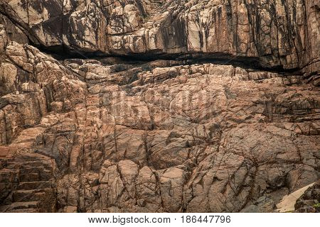 Stone crags mountain sharp cliff texture background