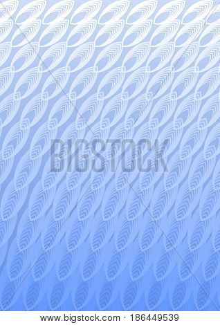 Light blue overlay background in optical art style with white blend ornaments, vector EPS 10