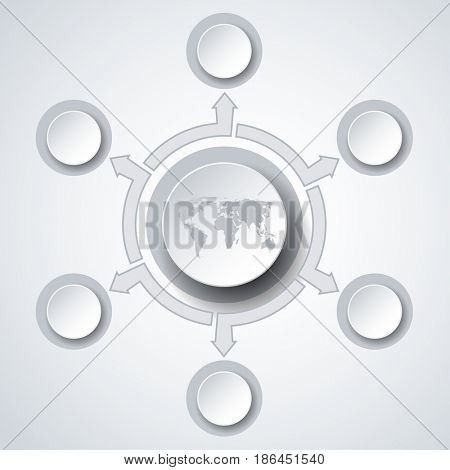 Illustration Concept Infographics marketing icons for layout, diagram, annual report, web design. Business options.