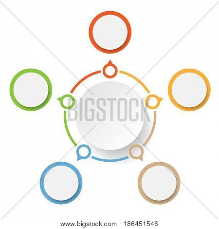 Abstract Circle Marketing. Concept Infographics icons for layout, diagram, annual report, web design. Business options. Illustration