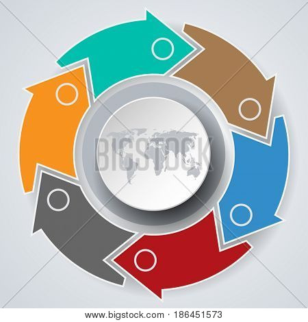 Concept Infographics marketing icons for layout, diagram, annual report, web design. Business options. Illustration