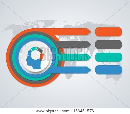 Business concept options. Infographics design marketing icons for layout, diagram, annual report, web design. Illustration