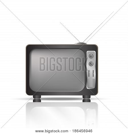 Realistic TV vector. Retro TV set realistic vector illustration.