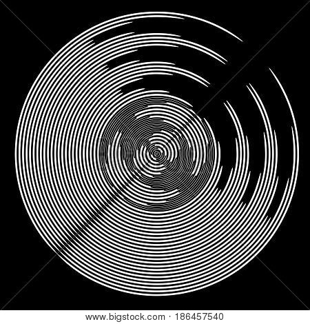 Circle rotation shape. Abstract geometric background. Vector art.