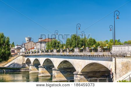 Pont-Neuf, a bridge in Cognac - France, Charente