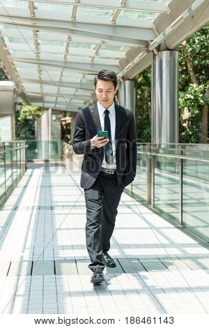 Businessman walking at outdoor
