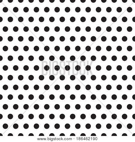 Seamless pattern with black circle. Vector illustration