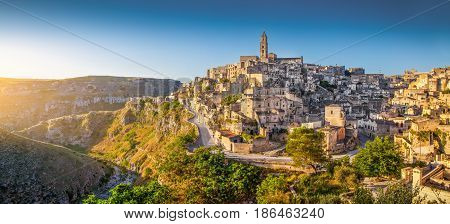 Ancient Town Of Matera At Sunrise, Basilicata, Italy