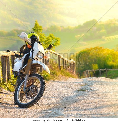 motocross motorcycle sunset cross country off road bike