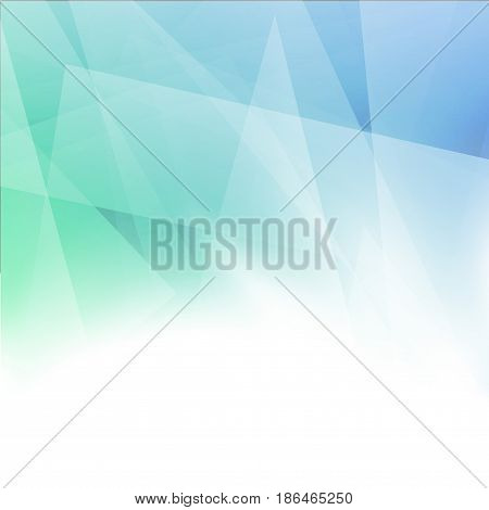 Minimalistic abstract geometrical blue green color layout. Vector illustration