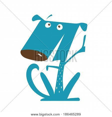 Cute animal cartoon doggy pet for design. Vector illustration.