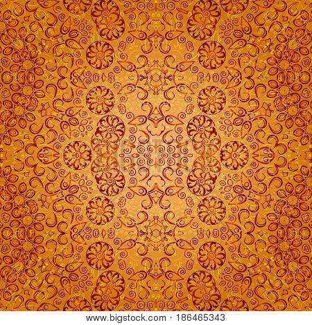 Seamless Background with Abstract Colorful Tile Pattern. Eps10, Contains Transparencies. Vector