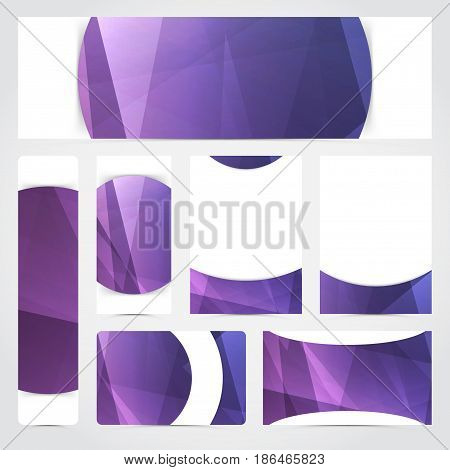 Abstract geometrical flyer brochure business card template. Vector illustration
