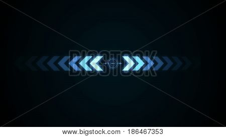 Abstract Background With Crosshair Icon Animation