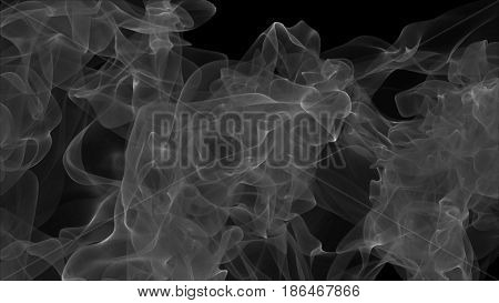 Abstract background with grey smoke. 3d rendering