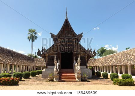 Wat Ton Khen old wooden temple in lanna style Chiang Mai Thailand