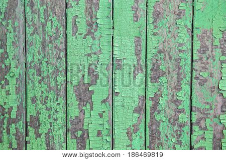 Vintage Wood Background With Peeling Paint