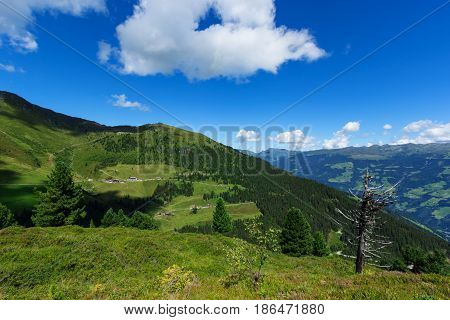 View Alps Zillertal High Alpine Road Austria Tirol Zillertal
