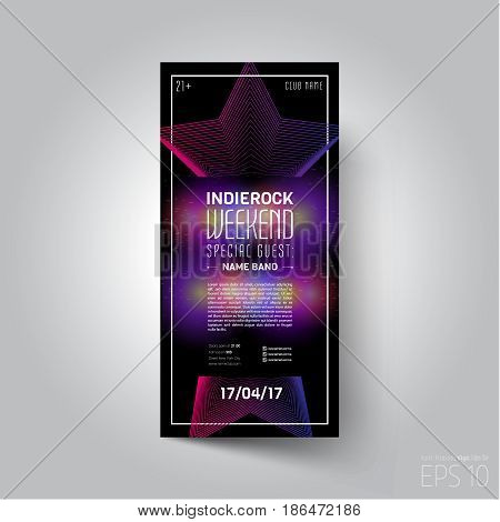 Vector design template. Suitable for poster, promotional flyer, invitation, ad or banner.