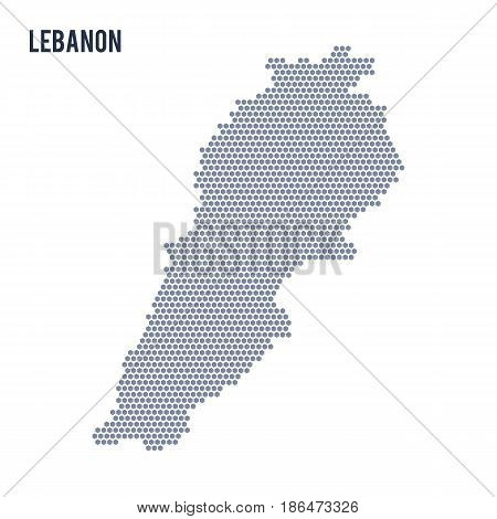Vector hexagon map of Lebanon . Business space in the country