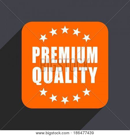 Premium quality orange flat design web icon isolated on gray background