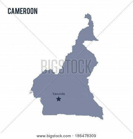 Vector map of Cameroon isolated on white background. Travel Vector Illustration.