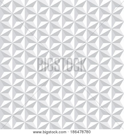 Seamless White 3D Pattern. Geometric Texture.