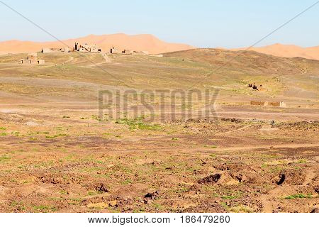 Sahara Africa In Morocco The Old Contruction And The Historical Village