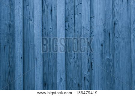 Airy Blue Wooden Planks Background. Blue Wooden Wall Texture