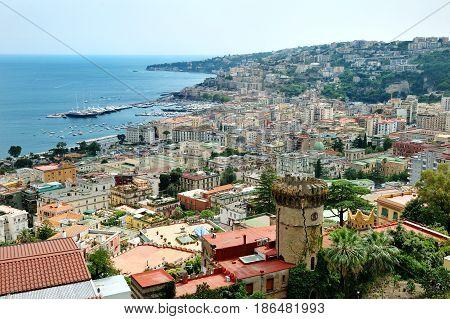 Naples scenic day panoramic view Italy Europe