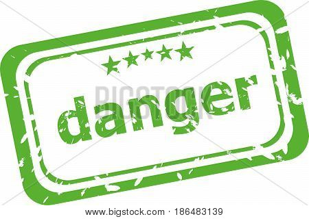 Danger Word On Rubber Old Business Stamp