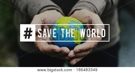 Ecology environment green save the world