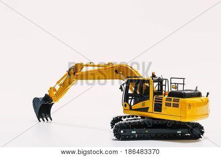 The Excavator loader model on white background