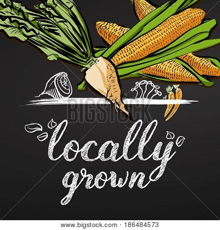 Locally Grown Vegetables Banner