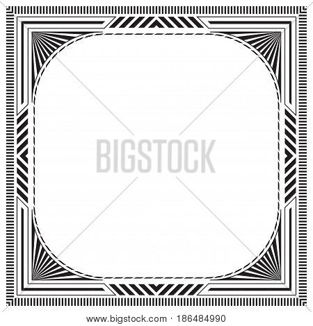 Black square framework, label, page decoration. Pattern brushes are included.