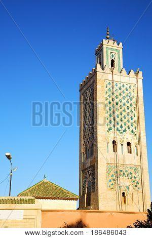 History In Maroc Africa  Minaret Street Lamp